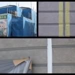 柳井市古開作で塗り替えしています