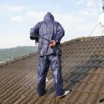 屋上 高圧洗浄しています@田布施町